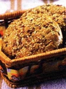 Ржаные лепешки с кунжутом