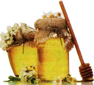 сухую горчицу и мед