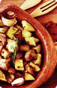 жареной картошкой