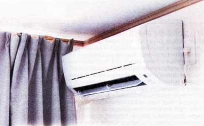кондиционер охлаждает воздух