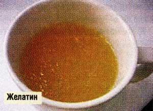 применяется желатин