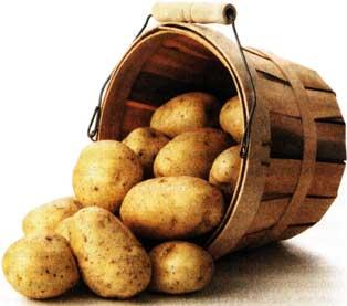 с помощью картофельной воды
