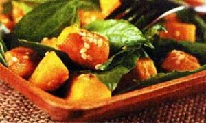 Салат из тыквы с базиликом