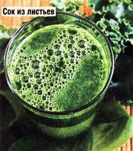 сок из свежих листьев лопуха