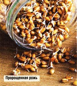 Пророщенное зерно ржи