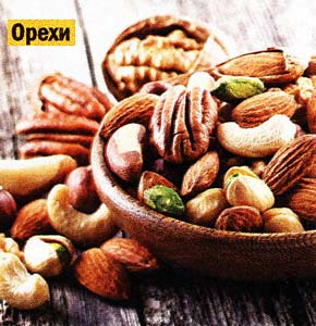 бобовые культуры и орехи